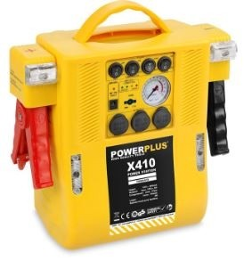 Incarcator multifunctional PowerPlus 4 in 1 (starter, compresor, acumulator, 2 lampi de urgenta), POWX410