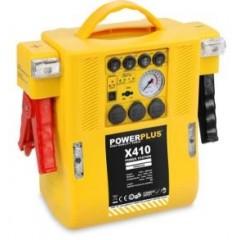 Incarcator multifunctional PowerPlus 4 in 1 (starter, compresor, acumulator, 2 lampi de urgenta), POWX410
